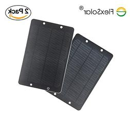 FlexSolar 2-Pack 6W Portable Solar Charger Panel, Shockproof