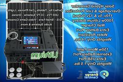 Portable Solar Generator 1000W Lithium 150 Watt Panel Pure S