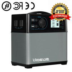 Suaoki Portable Solar Generator, 400Wh High Capacity Lithium