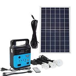 ECO LLC 10W Portable Solar Generator Kit Emergency Power Sup