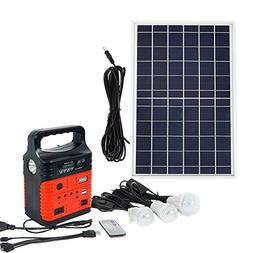 ECO LLC 10W Portable Solar Generator Kit Emergency Power Sup
