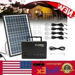Portable Solar Generator Kit Power Inverter for Camping Pane