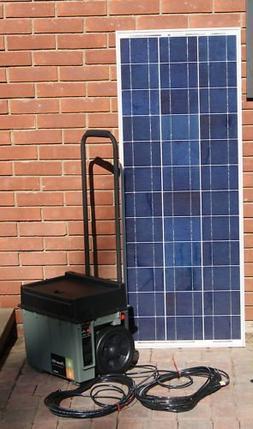 portable solar generator plug n