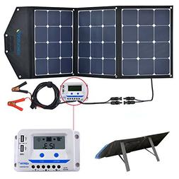 ACOPOWER 120W Portable Solar Panel, 12V Foldable Solar Charg