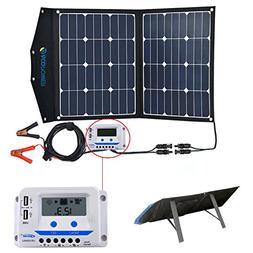 ACOPOWER 80W Portable Solar Panel, 12V Foldable Solar Charge