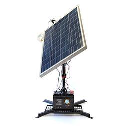 Portable Solar Panel 100w & Battery Inverter Kit with Mount