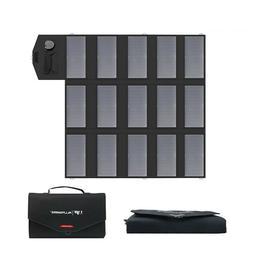 Portable Solar Panel Charger 100w 18v 12v Foldable Battery F