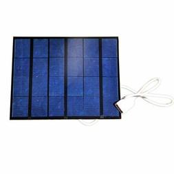 NUZAMAS Portable Solar Panel Charger 6V USB Connecton Power