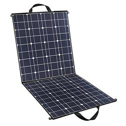 100 Watts 12 Volts Portable Solar Panel Kit Charger Foldable