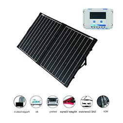 ACOPOWER 12V Portable 100 Watts Solar Panel Kit Suitcase wit