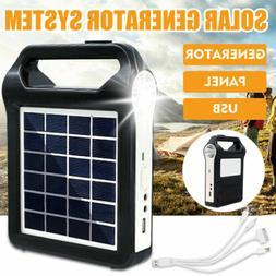 Portable Solar Panel Light Solar Generator System USB Port W