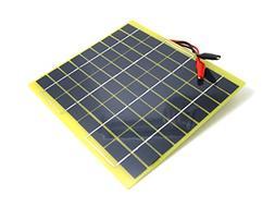 NUZAMAS Portable 5W 12V Solar Panel Module Battery Charger w