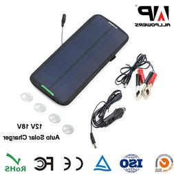 7.5W Portable Solar Panel Power Battery Charger 18V For Trac