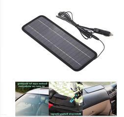 12V 5W Portable Solar Panel Power Battery Charger Backup for