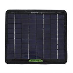 12 Volts 5 Watts Portable Solar Panel Power Battery Charger