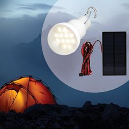 Portable Solar Panel Power LED Bulb Lamp Outdoor Camp Tent F