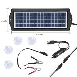 Portable Solar Panel RV Battery Auto 12V 3W Car Battery Tric