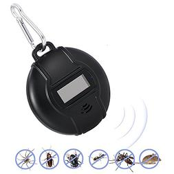 Teepao Portable Ultrasonic Pest Repeller, Solar Powere Or Mi