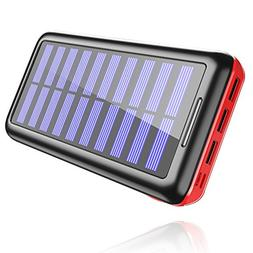 Power Bank Portable Solar Charger - 22000mAh with Dual Input