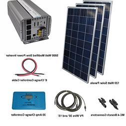 Aims Power Solar Kit 360 Watt Solar Panels with 600 Watt Pur
