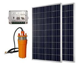 ECO-WORTHY High Power 2pc 100W Solar Panel + 24V Deep Well S