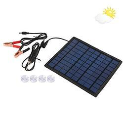 Qlhshop Powerful 12V 5W Watt Portable Solar Panel Battery Ch