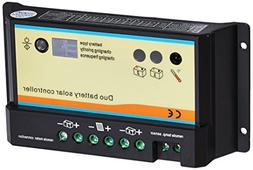 RENOGY 20 Amp PWM Dual Battery Charge Controller