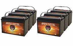 QTY6 Solar VMAX SLR125 AGM Hi Cap Maint Free Batteries 750AH