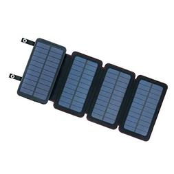QuadraPro 5.5W Solar 4-Panel Portable Wireless Cell Phone Ch