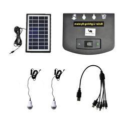 Rechargeable Portable Solar Generator Kit Power Inverter for