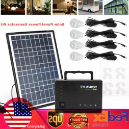 Rechargeable Portable Solar Generator Kit Power Inverter for
