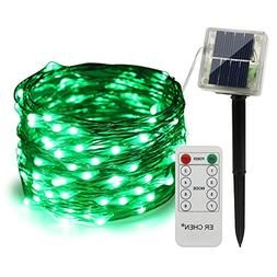 ErChen Remote Control Solar Powered Led String Lights, 33FT