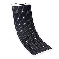 RICH SOLAR 100 Watt 12 Volt Flexible Monocrystalline Lightwe