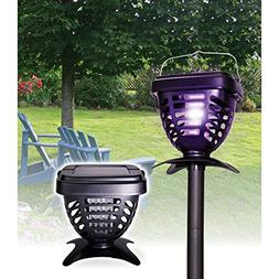Riddex Solar Powered Insect Zapper Kills Mosquitoes, Wasps,