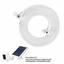 Ring Spotlight Cam Battery Solar Panel Flexible Weatherproof