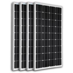 Renogy 4 Pieces 100W Monocrystalline Photovoltaic PV Solar P