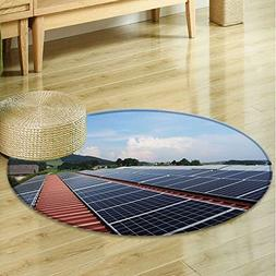 Small round rug Carpet Flat panels of solar panels door mat