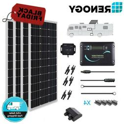 RENOGY® RV Solar Kit 400W: 4pc 100W Mono Solar Panel + View