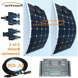 Semi-Flexible Bendable Lightweight 200w 200 Watt Solar Panel