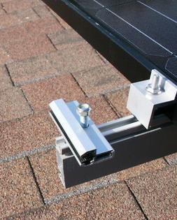 Semi Flexible Frameless Solar Panel Mounting brackets - End