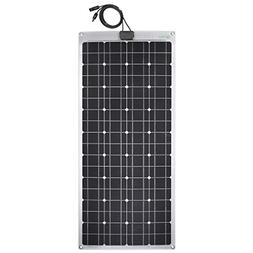 Lensun 100W 12V Semi-Flexible Monocrystalline Solar Panel fo