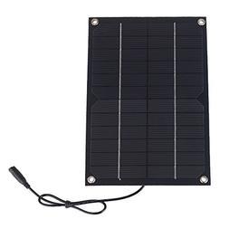 SUNWALK 6W 12V Semi-flexible Solar Cell DC Output Solar Pane