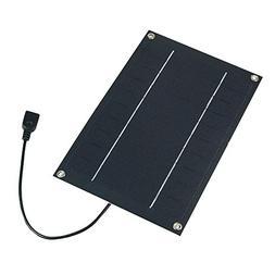 SUNWALK 6W 5V Semi-flexible Solar Panel Portable USB Output
