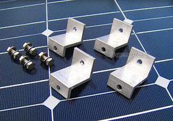 Set 4 Pcs Kit Solar Panel Z Bracket Mount Mounting Flat Roof