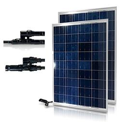Genssi 200W Set Polycrystalline Photovoltaic PV Solar Panel