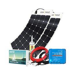 Unlimited Solar Sevan PRO 200 Watt 12 Volt MPPT Marine Flexi