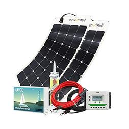 Unlimited Solar Sevan PLUS 200 Watt 12 Volt Flexible Marine