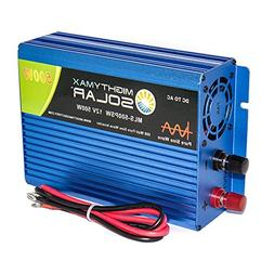 Mighty Max Battery 12V 500 Watt Pure Sine Wave Inverter for