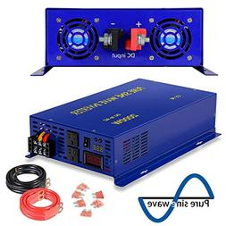 2500 Watt Pure Sine Wave Inverter 24V DC to 120V AC, 2500W P