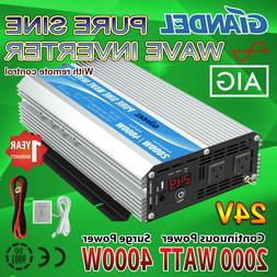 GIANDEL 2000W Pure Sine Wave Power Inverter DC 24V to AC120V